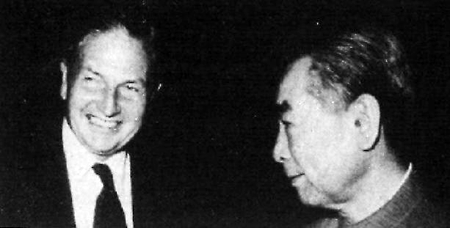 David Rockefeller and Zhou Enlai