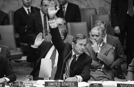 BUSH, SR. AT UNITED NATIONS